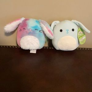 """TWO BUNNY SQUISHMALLOW NWT 5"""" RYDER BUTTONS"""